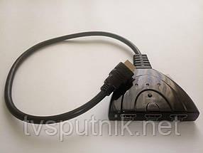 Коммутатор HDMI-сигналов Moojecal 3x1 1080P