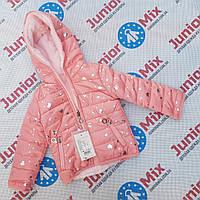 Оптом детские  демисезонные  куртки для девочек с мехом   GRACE