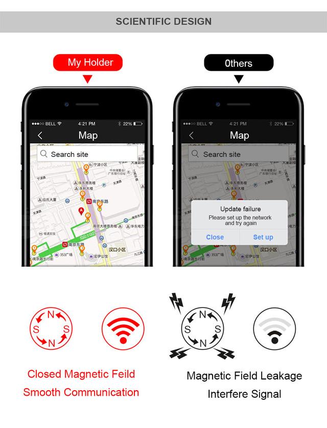 Магнитный автомобильный держатель для смартфона Baseus Car and Desk Holder Magnetic 360 Rotation Серебристый Золотистый