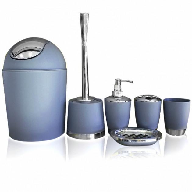 Набор аксессуаров для ванной комнаты Bathlux Голубой (pr000252)