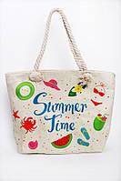 Пляжная сумка с ярким рисунком и ручками из каната, фото 1