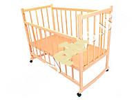 Детская кроватка деревянная на колеесах, качалка, опускаются боковинки