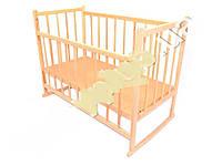 Детская кроватка деревянная, качалка, опускаются боковинки
