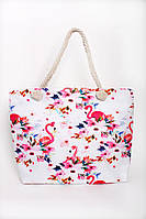Пляжная женская сумка с принтом фламинго , фото 1