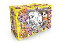 Набор сумочка раскраска с игрушкой dankotoys rp-01-03 royal pet s Собачка