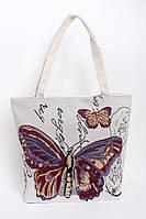Пляжная женская сумка с большой бабочкой, фото 1