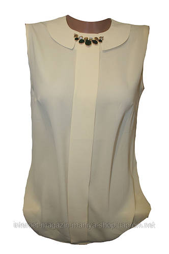 Женская блузка без рукава
