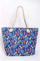 Пляжная женская сумка в тропический принт, фото 1