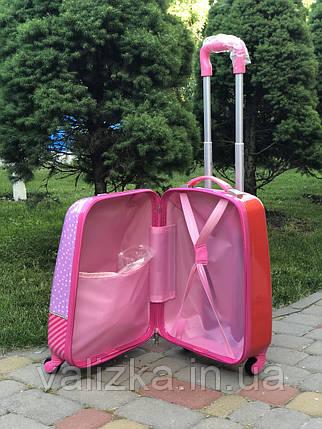 Чемодан дорожный детский для девочки 4 колеса  ручная кладь Josepf Ottenn  кукла LOL Surprise Лол  44 см, фото 2