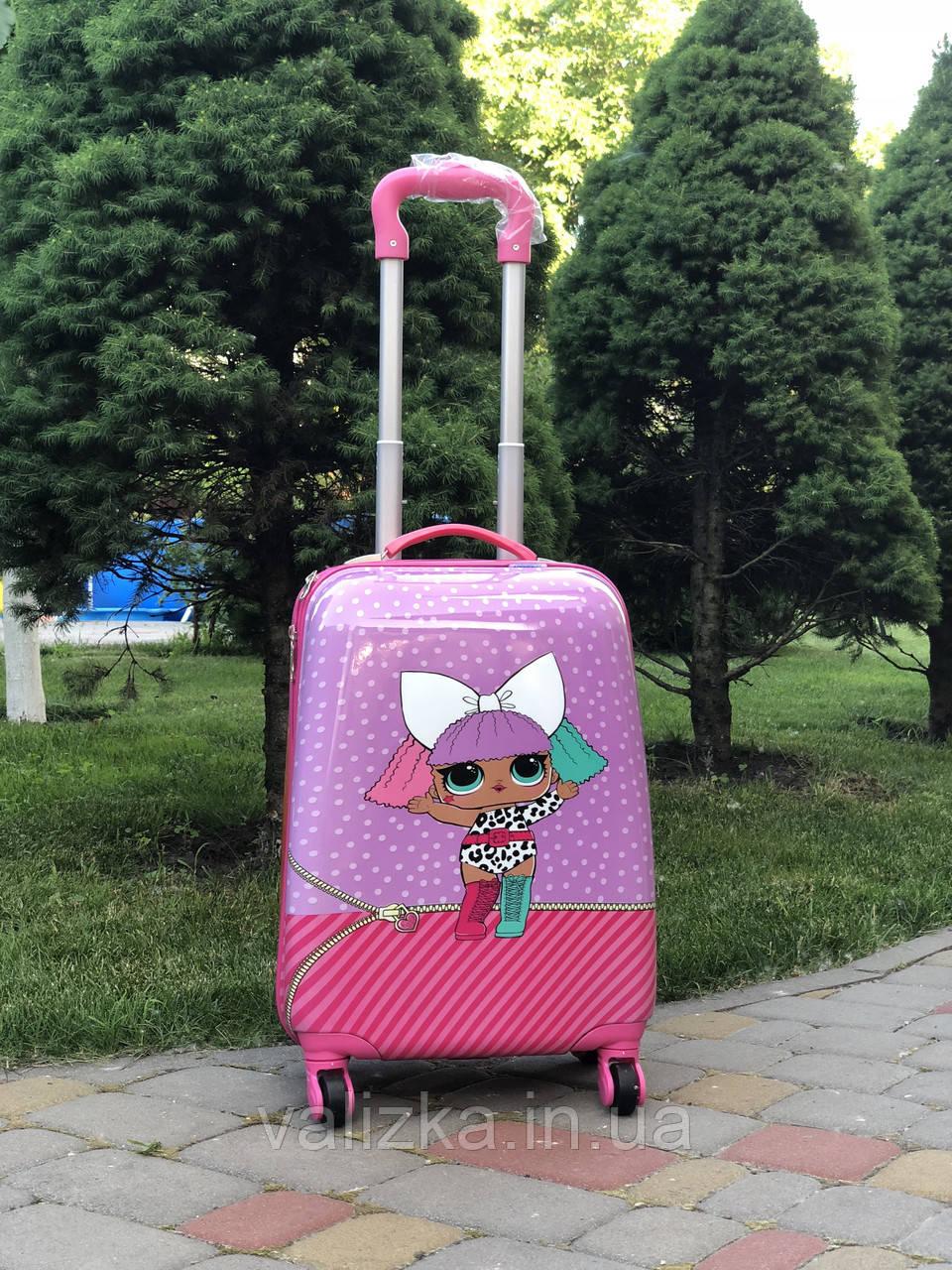 Чемодан дорожный детский для девочки 4 колеса  ручная кладь Josepf Ottenn  кукла LOL Surprise Лол  44 см
