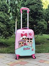 Чемодан детский для девочки кукла LOL Surprise Лол 44 см, фото 3