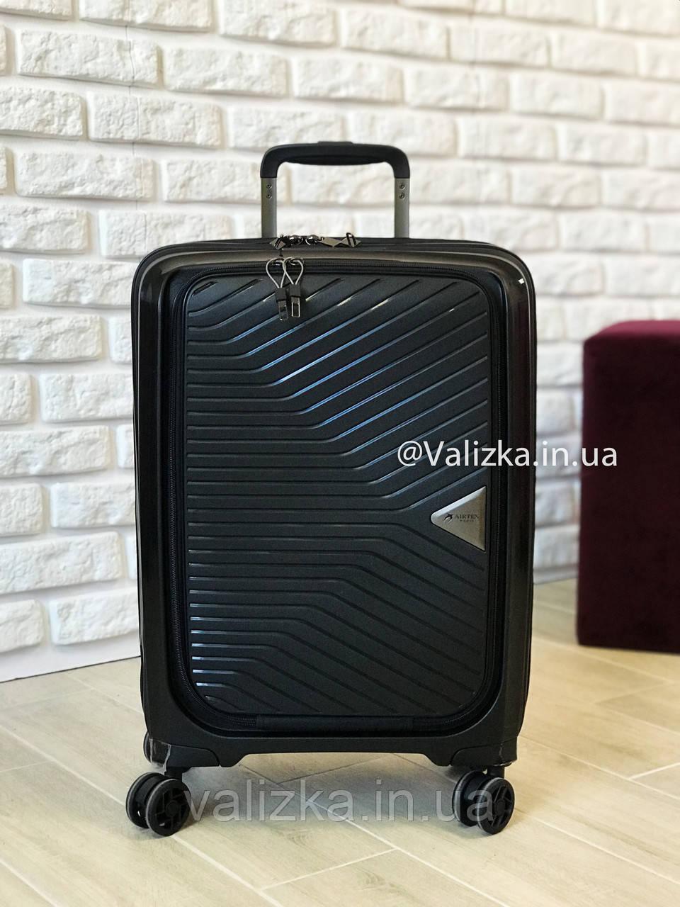 Чемодан из полипропилена пластиковый с отделением для ноутбука Airtex Франция / Якісна валіза з поліпропілену