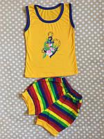 Летний костюм для девочки 86-92, жовтий