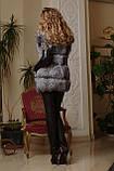 Жилет жилетка из чернобурки ярусами  silver fox fur vest gilet, фото 3