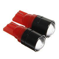 Светодиодная автолампа T10 W5W 1.5W 12V 150lm COB красная, фото 1