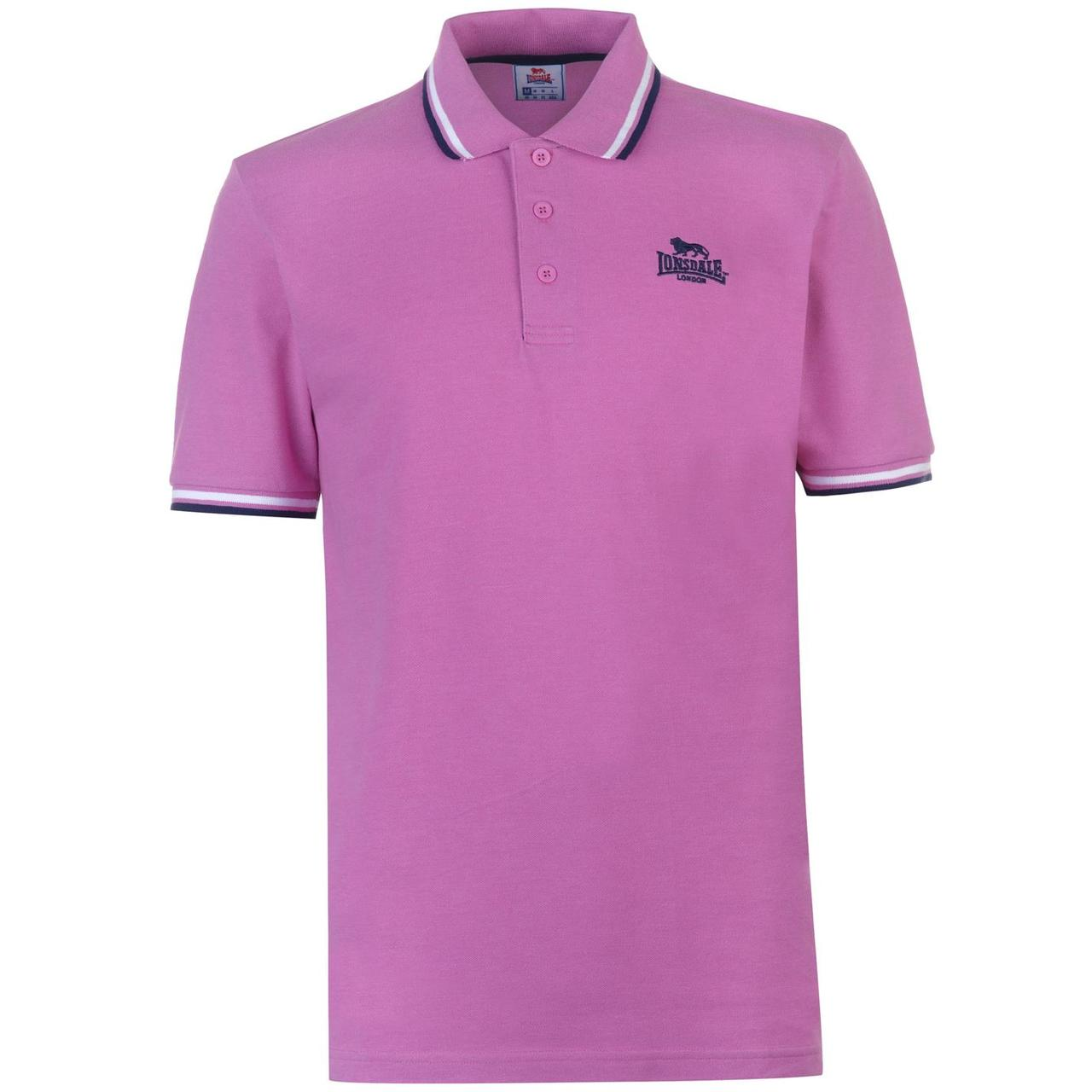 Поло Lonsdale Tipped Polo Mens M Сиреневая (54501606-R)