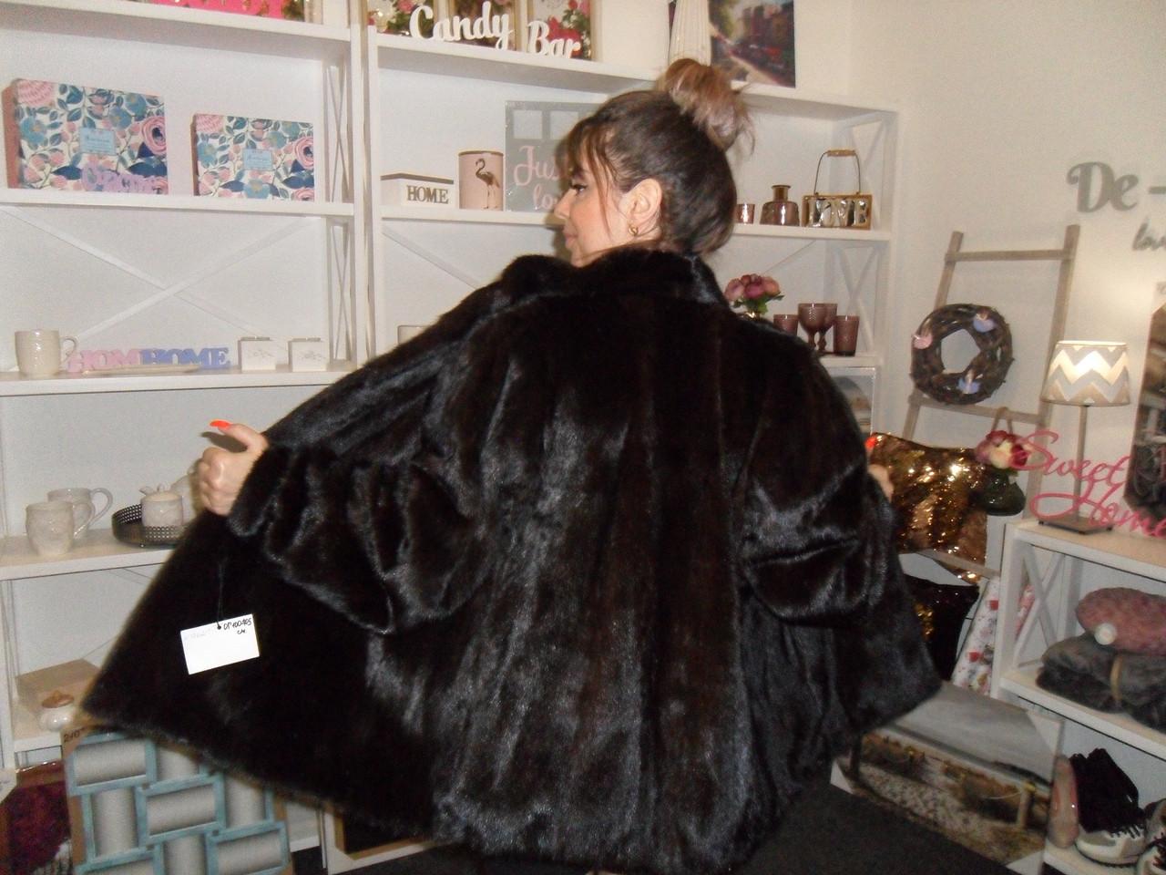 Норковый полушубок Saga Mink красивая шуба из натуральной канадской норки норковая шуба 48 50 размер в кредит