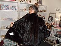Норковый полушубок Saga Mink красивая шуба из натуральной канадской норки норковая шуба 48 50 размер в кредит, фото 1