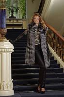 жилет жилетка из чернобурки  silver fox fur vest, фото 1