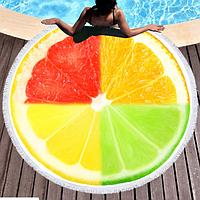 Пляжное покрывало-полотенце (микс фрукты) 150 x 150 см
