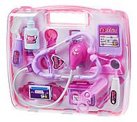 Игровой набор доктора same toy 7735but розовый в кейсе