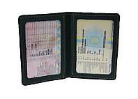 Обложка для водительских документов прав удостоверений ID паспорта SULLIVAN odd7(4) зеленая