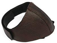 Автопятка кожаная для женской обуви темно-коричневый