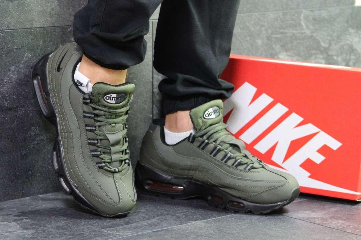 0fe03c84 Зимние мужские кроссовки темно зеленые Nike Air Max 95 РП-6343 - Игроландия  в Киеве