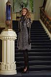 жилет жилетка з чорнобурки silver fox fur vest, фото 4