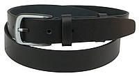 Ремень кожаный для брюк Skipper 1205-33 черный 125х3,3 см