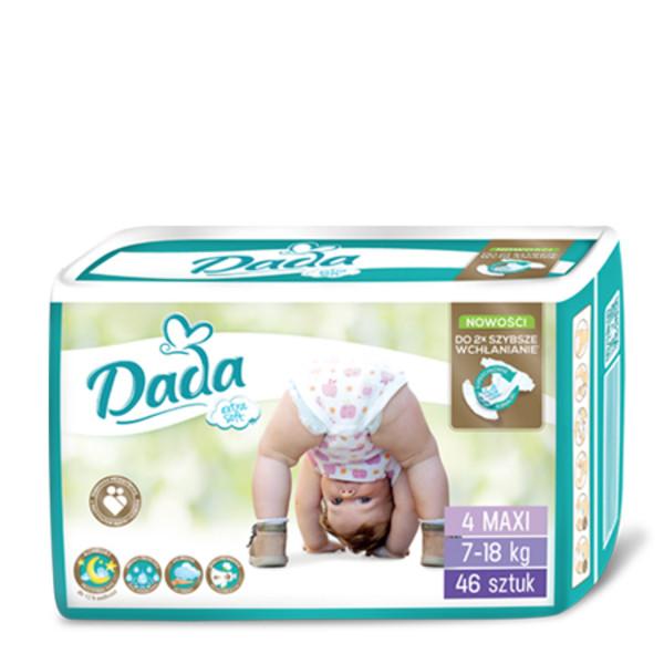 Подгузники DADA  Extra Soft MAXI 4, 7-18 кг, 46 штук