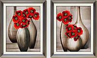 """Вышивка нитками """"Красные цветы"""" (набор для творчества)"""