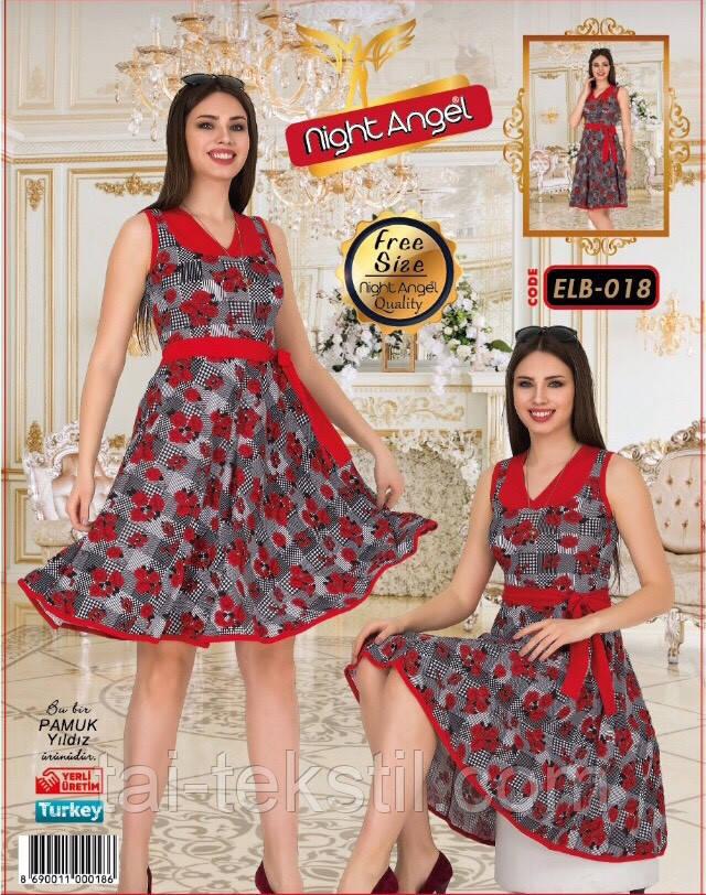 Молодежное платье свободного размера Турция (46-50р) Night Angel 018
