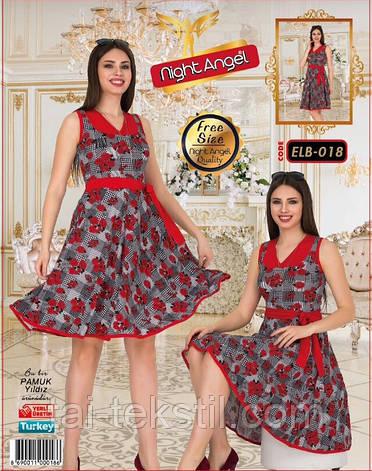 Молодежное платье свободного размера Турция (46-50р) Night Angel 018, фото 2