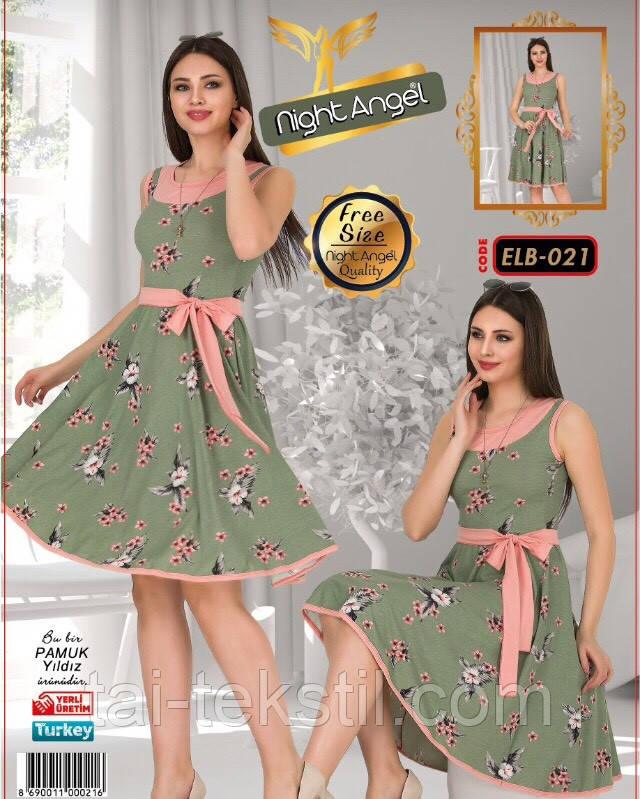Молодежная платье свободного размера Турция (46-50р) Night Angel 021