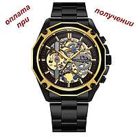 Мужские механические часы скелетон Skeleton ОРИГИНАЛ Forsining с автозаводом, фото 1