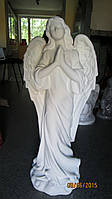 Ангел для памятника. Статуя на могилу из бетона Ангел белоснежный 82 см, фото 1