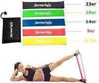 Фитнес резинки 5 шт + мешочек