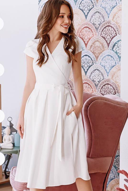 Белое летнее платье Лусия