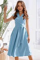 Элегантное летнее платье Лусия, голубое