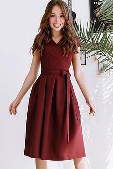 Платье с коротким рукавом Лусия, бордовое