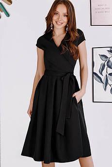 Чорна сукня на запах Лусія