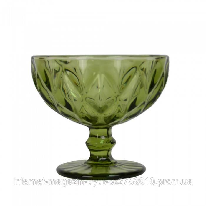 "Набір креманок із 6 од скло ""Rhombus large"" зелена VB074"