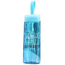 Бутылка для питья, воды 520 мл (0,5л) с фильтром, ручкой  Casno -  ЭКОпластик, спортивная, Пляшка для пиття, фото 2