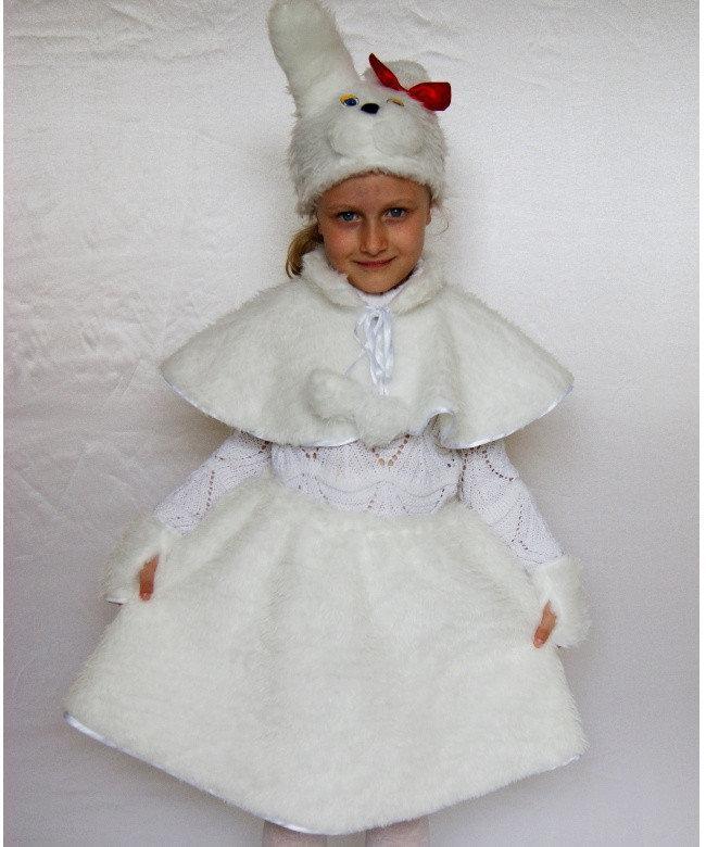 Детский карнавальный костюм Bonita Зайка № 2 95 - 110 см Белый