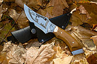 Нож ручной работы Носорог с кожаным чехлом + эксклюзивные фото