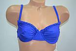 Купальник Sun & Ocean с косточкой без поролона классическая модель Синий, фото 2