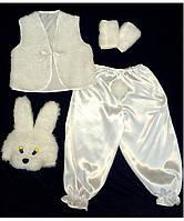 Детский карнавальный костюм Bonita Зайка мальчик № 1 95 - 110 см Белый, фото 1