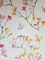 Обои бумажные YORK  KI0516 A Perfect World детские молодежные  бабочки цветы ветки