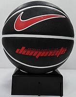 Мяч баскетбольный  для улицы-зала Nike Dominate размер 7, резина, цвет - черный-белый-красный (N.000.1165.095), фото 1